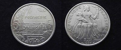 French Polynesia: SUPERBE 5 FRANCS 1984...Rare...(Paypal possible).