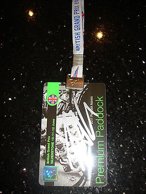 Official Moto Gp Full Access Paddock Pass - British 2011 - Signed By Dovizioso
