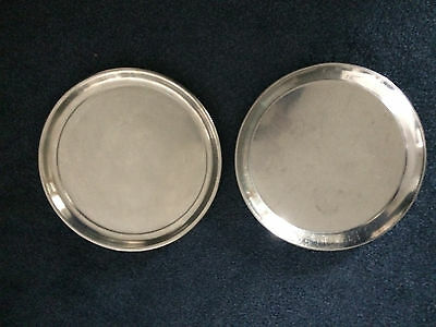 2 STAINLESS STEEL ROUND CATERING SERVING TRAY HEAVY DUTY DIAMETER 300mm