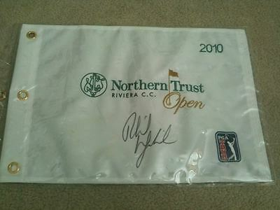 Phil Mickelson Signed 2010 Northern Trust Flag Coa