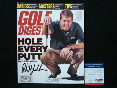 Phil Mickelson Signed Early Golf Digest Cover Psa/dna