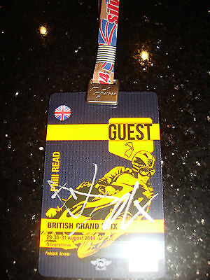 Official Moto Gp Full Access Paddock Pass - British 2014 - Signed By Dovizioso