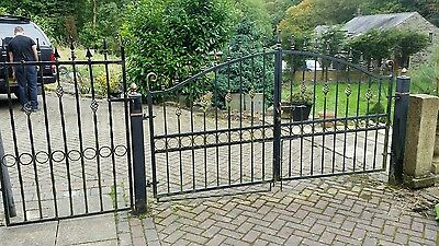 Wrought iron gates (galvanised )