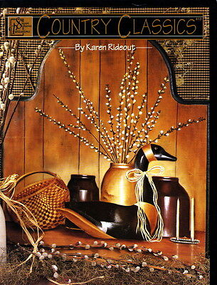 Country Classics Still Life Tole Painting Pattern Book Karen Rideout (acrylics)