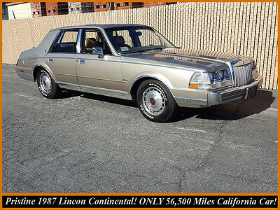 1987 Lincoln Continental COINTINENTAL 1987 LINCOLN CONTINENTAL! IMPECCABLE RUST-FREE CALIFORNIA CAR ONLY 56K MILES!