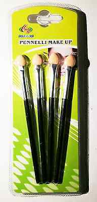 4 pc Pennelli Make Up Cosmetic Brush Foundation Eyeliner Lip Brush Trucco Set