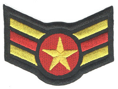 "PARCHE bordado en tela MILITAR/AIRSOFT ""RANGO 3"" EMBROIDERED PATCH"