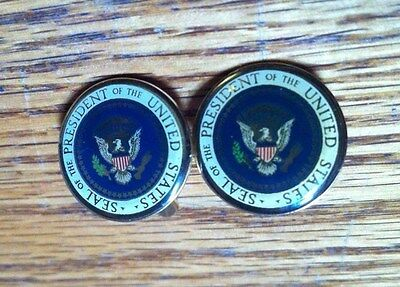 Presidential Seal George HW Bush 41 White House Cufflinks Authentic rare Enamel