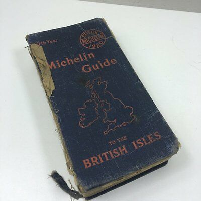 Vintage Antique 1920 Michelin Guide Of British Isles - Fifth Year - Well Used