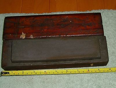 Vintage Oil Stone Wet Hone Sharpening Chisel Plane Old Tools Carpenters in Box