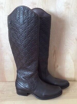 NWOT LYARD MEXICO 'London' Equestrian Riding Boot Brown Leather Women's 9