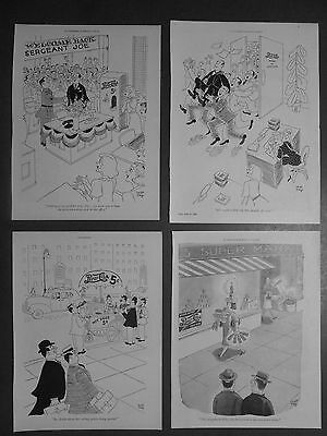Wwii Pepsi Cola 1944-46 Hot Dogs Office Soldier Home Beverage Soda Pop Ad Lot