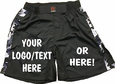 MMA FIGHT SHORTS - PLAIN or PERSONALISED - UFC, Cage, Martial Arts - Camouflage