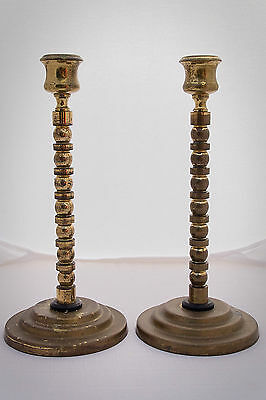 Pair of Brass Plated Candlesticks Vintage? Decorative