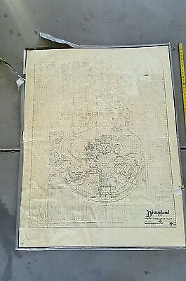 Disneyland California Blueprint Site Plan Map RARE Star Wars Land VINTAGE Disney