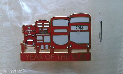 Transport for London 2014 Year of the Bus Pin Badge +Official Card