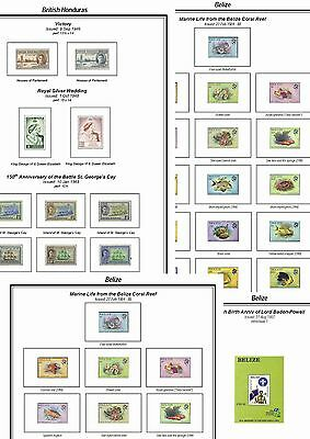 Print a Belize  Stamp Album Fully Annotated & Completely Colour Illustrated