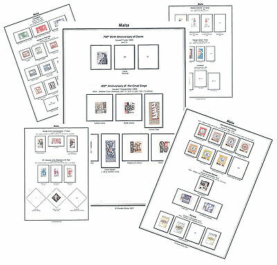 Print a Malta Stamp Album - Fully Annotated & Completely Colour Illustrated
