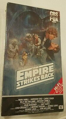 The Empire Strikes Back Red Label Vhs Sealed Star Wars
