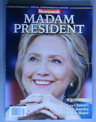 New Fair RECALLED Hillary Clinton Special Commemorative Newsweek Madam President