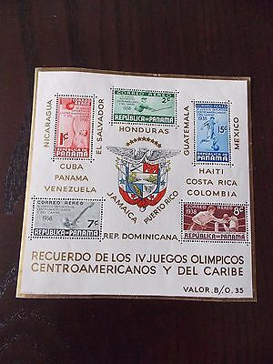 Panama 1938 Central American & Caribbean Olympic Games Minisheet SG MS339 MNH