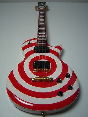 Zakk Wylde Bullseye Red & White Miniature Guitar