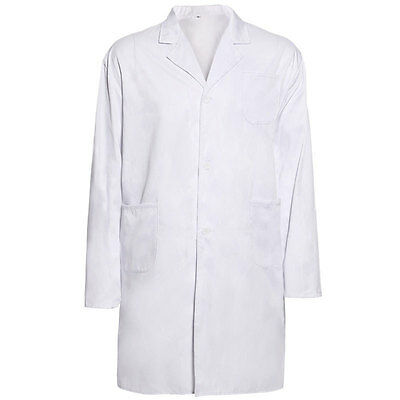 White Lab Coat Small 3 Pockets New Ships Free