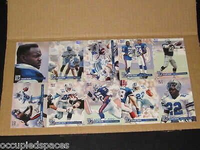 Emmitt Smith Hand Signed Uncut Sheet Of 1993 Pro Set Power Cards