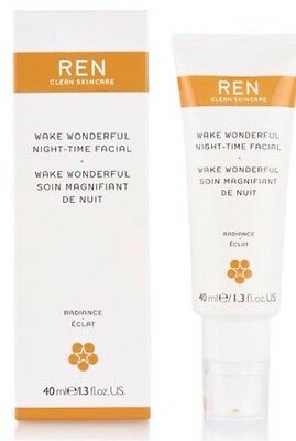 REN Wake Wonderful Night-Time Facial Full Size 40ml Brand New & Boxed *FAST POST