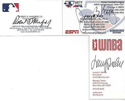 Commissioner Of Arena Football League Jerry Kurz Signed Business Card