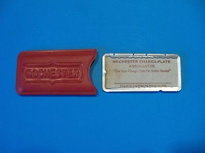 vintage  1950's charge plate ROCHESTER  CHARGA-PLATE ASSOCIATES