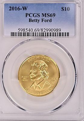 2016-W   $10 Gold Spouse Betty Ford PCGS MS69