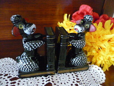 A Pair Of 70's  Bookends  Poodle  Dogs