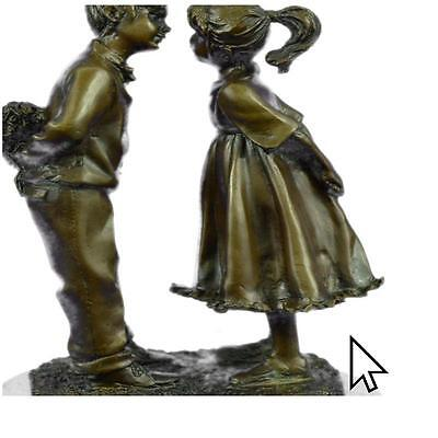 Art Deco First Kiss By Peyre ation Bronze Sculpture Statue Figurine