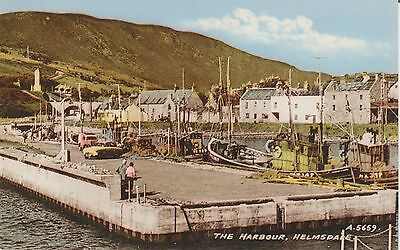 Early Postcard - Helmsdale  - The Harbour - Sutherland   -Real Photo