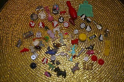 VINTAGE MIXED LOT OF  Cracker Jack Gumball Toy Prize Charms Buttons