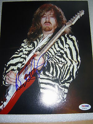 "Brad Whitford Signed Auto ""Aerosmith"" 8x10 Photo PSA/DNA COA"