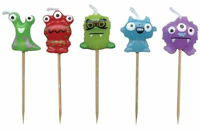 Monsters Party Candles - Pack of 5 Child's Birthday Candles