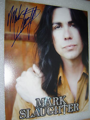 Mark Slaughter ''Slaughter'' Signed Original Autographed 8x10 Photo COA