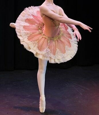 Bust 29-32 Professional Classical Ballet Tutu Vintage Pink Costume Aurora YAGP