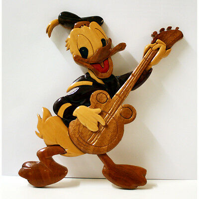 Vintage Donald Duck Wooden Wall Hanging Retro