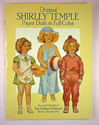 Shirley Temple Paper Dolls - Uncut - Repro Of 1St Shirley Temple Paper Doll Set