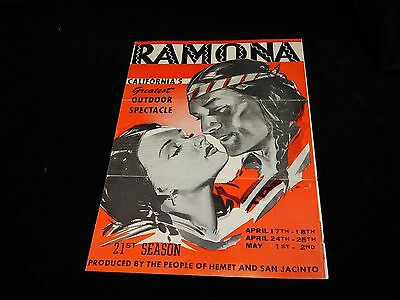 VintagePlay Bill,RAMONA-CALIFORNIA'S GREATEST OUTDOOR SPECTACLE,San Jacinto,1944
