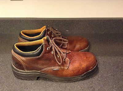 Timberland Brown Leather Steel Toe Work Shoes Mens Size 14 M