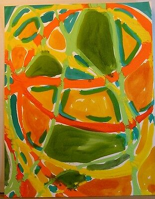8  Beautiful Contemporary Abstract Original Paintings Harvest Warm Colors OOAK