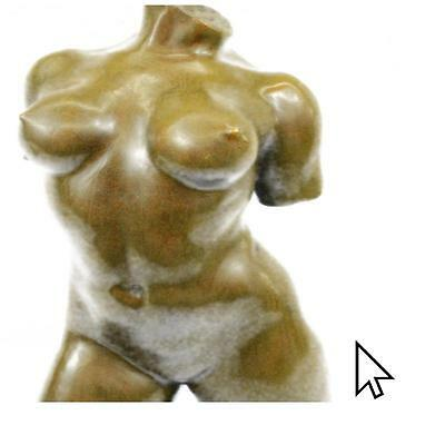 Signed Maillol Nude Female Torso Abstract Bronze Sculpture Statue Figurine