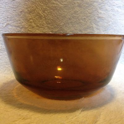 "Vintage Amber Anchor Hocking Fire King Oven Proof 8.25"" #15 Mixing Bowl"