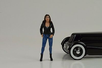 Cool Girl Rose Figurine Street Racing Crew 1:18 American Diorama no car