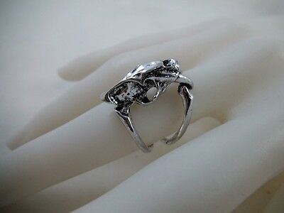 Skeleton Animal Bones Ring Sz 7 Pagan Occult Alchemy Goth Steam Punk Wicca