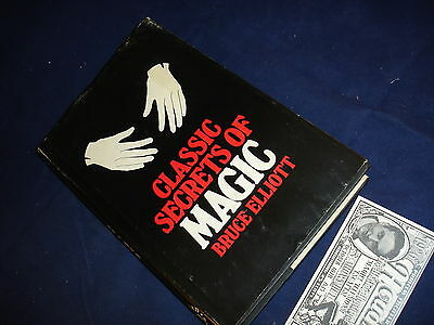 Bruce Elliott Book Classic Secrets Of Magic  Hb Dj 1953 Edition